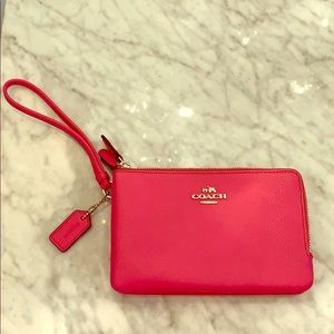 Coach small 2 section wristlet. New without tags.